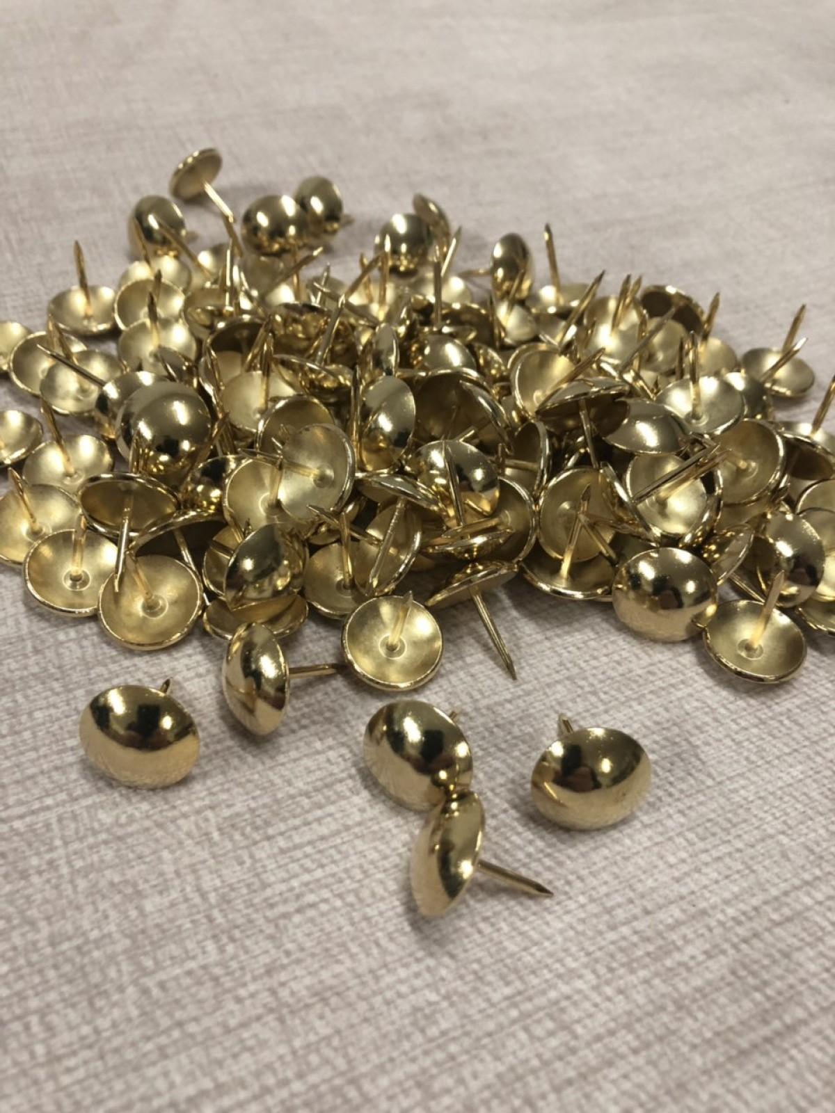 Декоративные гвозди 16мм Gold